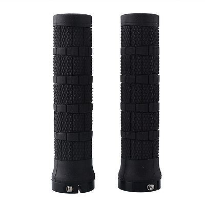 2X 1 Pair Rubber Handlebar Lock-on Grips Bike Bicycle Cycle Gear Sports New