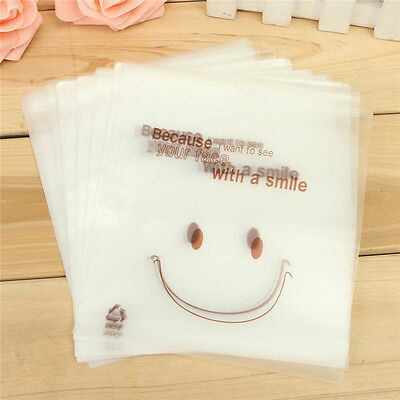 100X Clear Cookie Biscuits Snack Candy Gift Packaging Bag Birthday Wedding Set