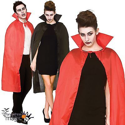 Adult Mens Ladies Vampire Cape Collar Halloween Fancy Dress Costume Outfit Cloak