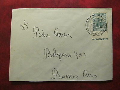 1949 - Argentina - Old Cover - From Tucuman To Buenos Aires Argentina