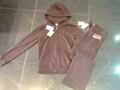 NWT Juicy Couture New Genuine Girls Age 14 Brown Cotton Tracksuit & Juicy Logo