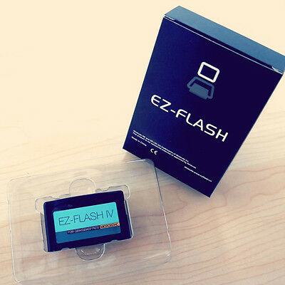 Official New, Latest version - EZ-Flash IV 4 GameBoy, Free case for GBA ROMS