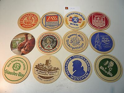 Lot de 12 Sous-bocks anciens allemands, tbe  - World FREE Shipping*SB10