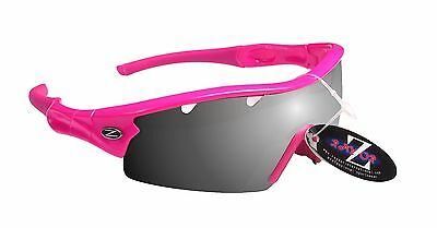 RayZor Uv400 1 Piece Pink Vented Smoked Lens Cricket Wrap Sunglasses RRP£49