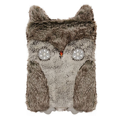 Premium Faux Fur Owl Hot Water Bottle Aroma Home Gift Boxed Owl Lovers Hottie