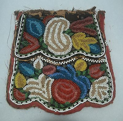 Iroquios Beaded Reservation Possibles Bag New York Artifact Collectible Relic*