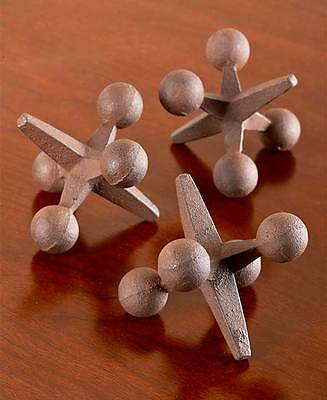 The Lakeside Collection Set of 3 Vintage Iron Jacks