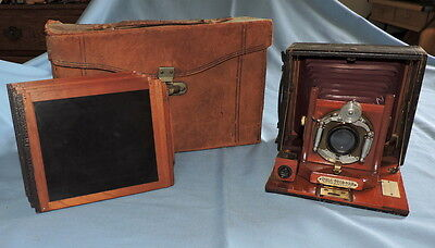 Cycle Poco No. 3  5x5 Format Camera Complete with Case & 5 Film Backs - C2779