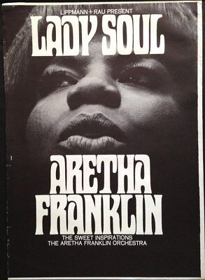 ARETHA FRANKLIN 1968 German A1 concert poster GUNTHER KIESER NEAR MINT SUPERB