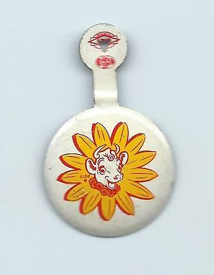 Borden Elsie the Cow Advertising  Tab Button from 1970s