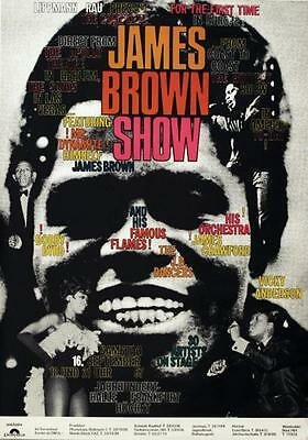JAMES BROWN German A1 concert poster 1967 GUNTHER KIESER Art ULTRA RARE
