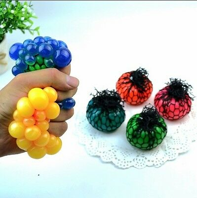Squishy Balls Mesh Fidget Stress Toys Squishes Kids Fun Play Hand Wrist Exercise