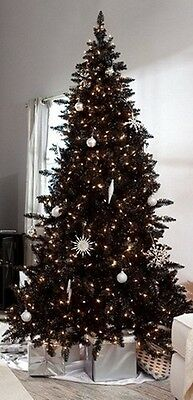 Pre-Lit 6.5' Madison Pine BLACK Artificial Christmas Tree with Clear lights