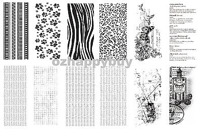 Kaisercraft TEXTURE Clear Stamps Animals Butterfly Words 30+ Designs Acrylic
