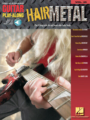 Hair Metal Sheet Music Guitar Play-Along Book and CD NEW 000699660