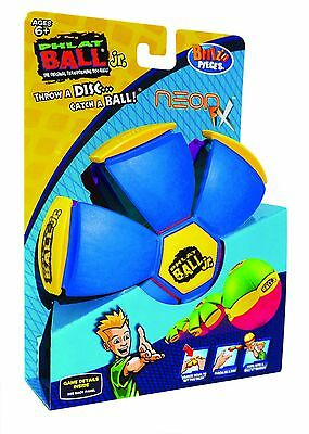 New Britz'n Pieces Phlat Ball Jr Neon Fx Blue/purple Bma755 Outdoor Toys