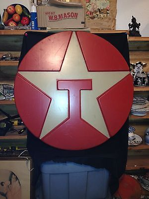 "33"" Round Texaco Oil Sign"