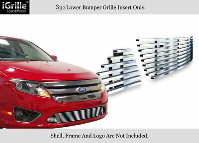 Fits 10-12 2011 2012 Ford Fusion Sport Bumper Stainless Steel Billet Grille
