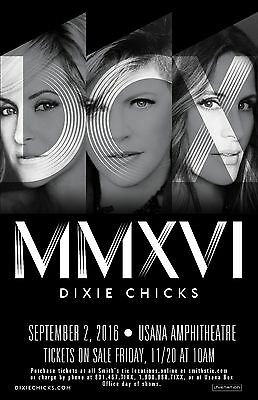 Dixie Chicks 11x17 2016 tour concert Poster Print Gloss thick card stock paper.