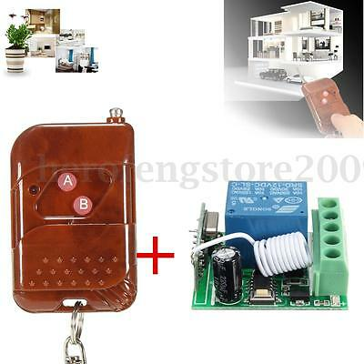 DC 12V 1 Channel Wireless Relay RF Remote Control Switch Receiver Transmitter