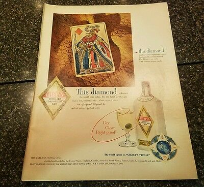 "1952Gilbey's Gin Vintage Magazine Ad ""This diamond"""