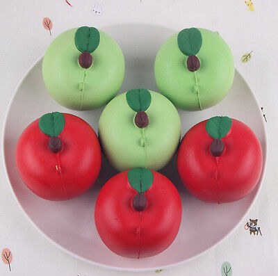 Bread Apple Green Red 1PCS Straps 7CM Fund Squishy Cute New Arrival Slow Rising