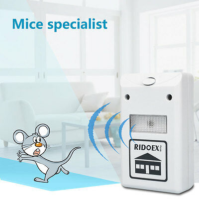 Electronic Ultrasonic Pest Repelling Aid Control Spiders Rats Repeller 110-220V
