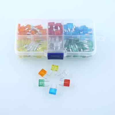 120Pcs Set Mini Blade Fuse Assortment Truck Car Motorcycle SUV Kit APM Assorted