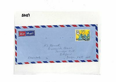 SS127 1982 OMAN to GB Devon Commercial Airmail