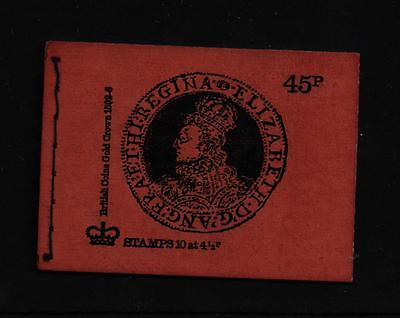DS2a STITCHED BOOKLET 45p orange brown december 1974 issue