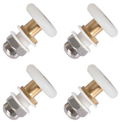 4pcs Bathroom Bottom Shower Door Pulleys Runners Rollers Single Wheels 25mm SALE