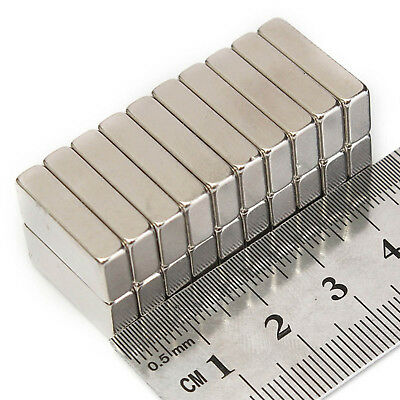 Very Strong Rare Earth NdFeB Neodymium Bar Block Magnets 10mm - 20mm Length