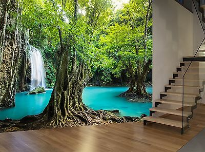 Forest River Water Plants Nature Wall Mural Photo Wallpaper GIANT WALL DECOR