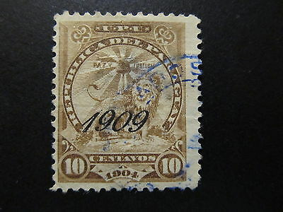 1909 - Paraguay - Surcharged In Black - Scott 186 A35 10C