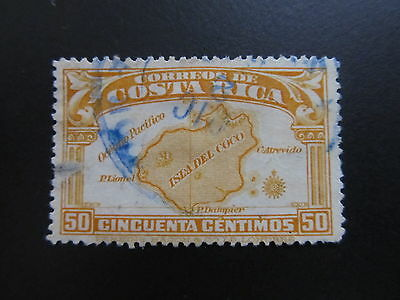 1936 - Costa Rica - Map Of Cocos Island - Scott 174 A95 50C