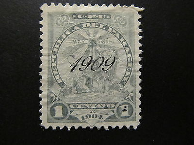 1909 - Paraguay - Surcharged In Black - Scott 181 A35 1C