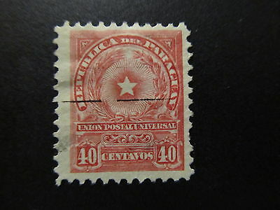 1913 - Paraguay - National Coat Of Arms - Scott 214 A40 40C