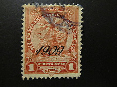 1909 - Paraguay - Surcharged In Black - Scott 182 A35 1C