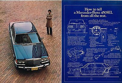 1978 Mercedes-Benz 450SEL 2 pg AD / ADVERTISEMENT from? Brochure, 450 SEL