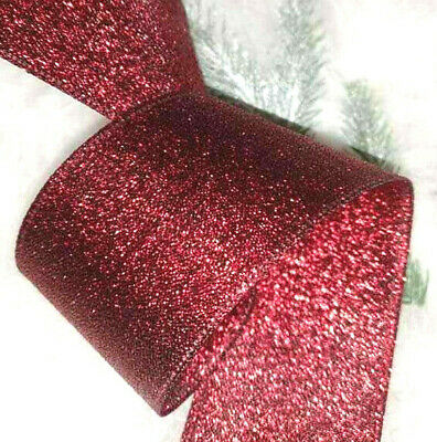65mm LUXURY WIRED IVORY VELVET + GOLD CHERUBS RIBBON,CHRISTMAS GIFT CAKE,FLORAL