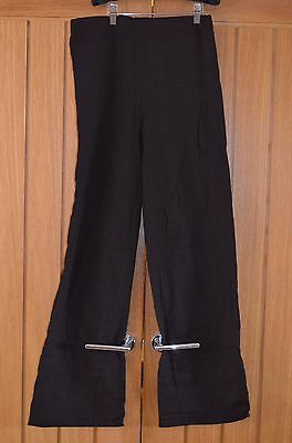 Loose Fit Dance Pants Black Cotton Lycra Mens Dancewear Made in the UK Large