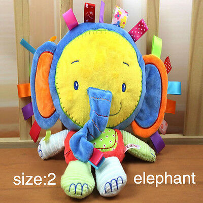 Baby Rattle Ring Bell Newborn Infant Soft Animal Stuffed Plush Toy Teether Doll