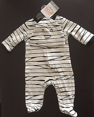 NWT Carter's 2 piece Mummy Footed Halloween Costume Hat Newborn NB Baby Outfit
