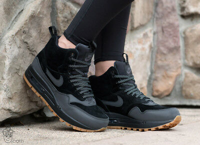 new style 58e8c eff7b Women s Nike Air Max 1 Mid Sneakerboot Sz 6 Black Gum NSW Boots Shoes  685267-