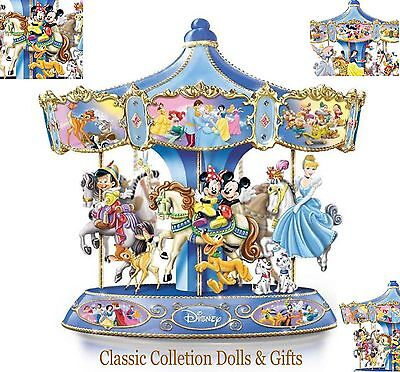 "Bradford Exchange ""wonderful World Of Disney""-Musical Carousel-New-In Stock Now!"