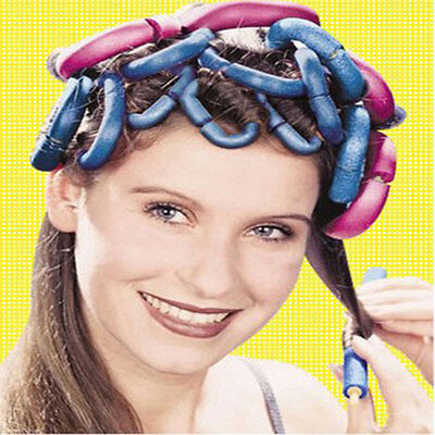 Fashion 12PCS Large Bendy Twist Hair Hairdressing Rollers Foam Curlers Kit