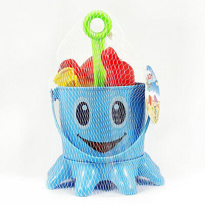 7 In 1 Kids Octopus Sand Water Beach Toy Bucket Spade Set Play Bath Time