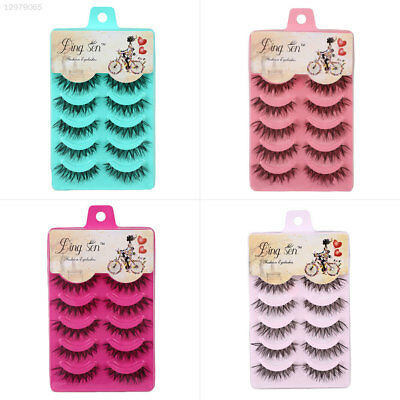 Natural Sparse Cross Eye Lashes Extension Beauty Long False Eyelashes Thick