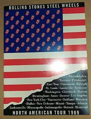 THE ROLLING STONES Steel Wheels 1989 North American Tour Programme RARE