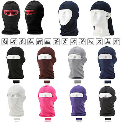 Outdoor Lycra Balaclava Neck Hood Full Face Mask Cycling Bicycle Motorcycle Ski